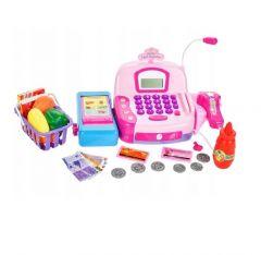 Set de joaca MalPlay Casa de marcat cu accesorii Roz cu scaner
