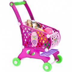 Set de Joaca pentru Copii MalPlay Carucior Roz pentru cumparaturi cu accesorii