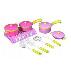 Set de joaca Malplay Aragaz de jucarie cu oale si accesorii incluse