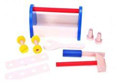 Set unelte Malplay Trusa de scule din lemn pentru micul Tamplar 12 piese