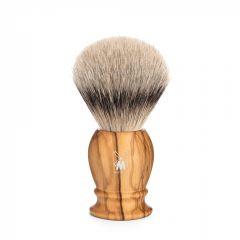 Pamatuf cu par de bursuc Silvertip Badger si maner din lemn de maslin Muehle Classic 091 H 250