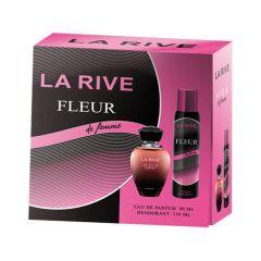 Set cadou La Rive Fleur de Femme, parfum si deodorant