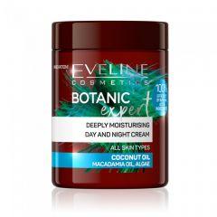 Crema de zi si noapte intens hidratanta Eveline Botanic Expert Ulei de cocos 100 ml