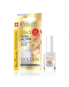 Tratament unghii 8 in 1 Eveline Nail Therapy Professional Golden Shine 12 ml