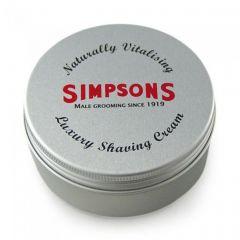 Crema de barbierit Simpson Luxury fara parfum 125 ml