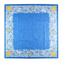 Set 20 naproane 84 x 84 cm pentru masa festiva de Craciun, set pentru restaurante, baruri, cafenele, decoratiune pentru masa de Craciun, model iarna, albastru, Duni