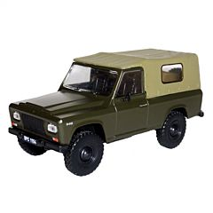 Macheta auto de colectie, Aro 240, Minimodel armata, metal-plastic, kaki  Scara 1:43