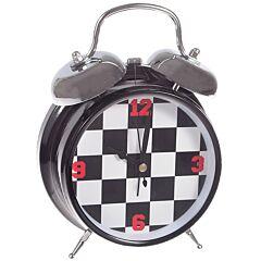 Ceas de masa, cadran tabla de sah, J-Line, negru