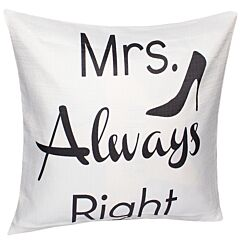 Fata de perna decorativa, model Mrs Always Right- stiletto, material textil, multicolor, Maxx, 43 x 43 cm