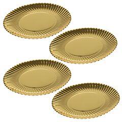 Set 4 farfurii desert, carton, Dolce Vita, auriu, 29 cm