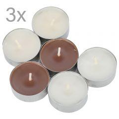 Lumanari parfumate pastila cu aroma de vanilie, Melinera, set de 18 pastile colorate, d 3.7 cm
