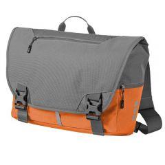 Geanta de umar, unisex, pentru laptop si calatorii, cu protectie umar si spate, bretea ajustabila mers bicicleta, Elevate-Revelstoke, gri-portocaliu