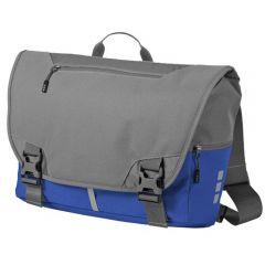Geanta de umar, unisex, pentru laptop si calatorii, cu protectie umar si spate, bretea ajustabila mers bicicleta, Elevate-Revelstoke, gri-albastru