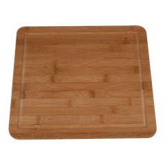 Tocator bambus 34 x 30 x 1.8 cm, tocator pentru servire/taiere carne, meat board