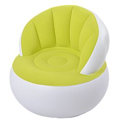 Fotoliu gonfalbil confortabil, cu sezut plusat, impermeabil, nealuneos, Maxx, 85 x 74 alb-verde
