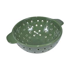 Strecuratoare ceramica, sita ceramica cu manere pentru uz frecvent sau decorativ, d 17 cm, h 8 cm, verde, J-Line