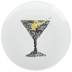 Farfurii desert/aperitive, set de 4, ceramica, 4 x farfurie, Grand Chef, alb, model pahar, d 20 cm