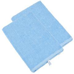 Set 2 prosoape bumbac 100%, Frottana, 50 x 100 cm, 450 gr/mp, bleu, superabsorbant