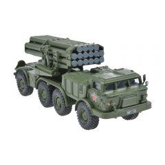 Macheta militara de colectie, masina de razboi minimodel Lansator multiplu de rachete BM-27 Uragan, Eaglemoss, kaki, Scara 1:72