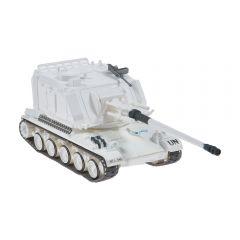 Macheta militara de colectie, masina de razboi minimodel Tanc AMX AUF-1, Eaglemoss, alb, Scara 1:72