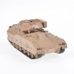 Macheta militara de colectie, masina de razboi minimodel Transportor M2 Bradley, Eaglemoss, crem, Scara 1:72