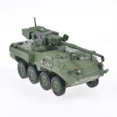 Macheta militara de colectie, masina de razboi minimodel Vehicul Blindat M1128-Stryker, cu tun 105 mm, Eaglemoss, Kaki, Scara 1:72