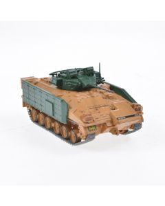 Macheta militara de colectie, masina de razboi minimodel Vehicul Blindat de Lupta MCV-80 Warrior, Eaglemoss, crem, Scara 1:72