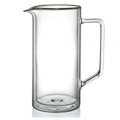 Carafa/cofer din sticla cu pereti dubli, 1 L, cofer termic, cofer termorezistent, design modern, h21 cm x Ø10 cm, 1000 ml, Klasique