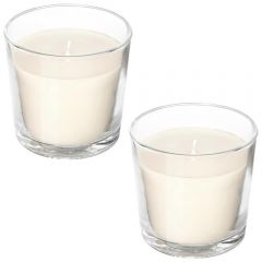 Set 2 lumanari parfumate, candele parfumate, aroma naturala de cocos si lime, 2 x lumanare in pahar, fara substante toxice, The Healing Garden