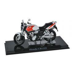 Macheta moto de colectie, motocicleta model Honda CB1300, Atlas, alb-rosu, Scara 1:24