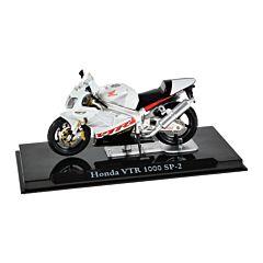 Macheta moto de colectie, motocicleta model Honda VTR 1000 SP-2, Atlas, alb, Scara 1:24