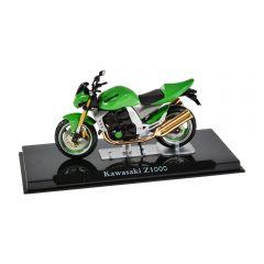 Macheta moto de colectie, motocicleta model Kawasaki Z1000, Atlas, verde, Scara 1:24