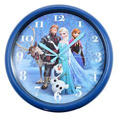 Ceas de perete, ceas cu personaje din Frozen, ceas pentru camera copilului, Disney, d 30 cm, bleumarin