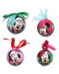 Globuri ornamentale, Disney, set de 4, model desene animate Mikey Mouse, 4 x glob ornament, 7 cm