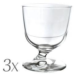 Set 3 pahare vin, 220 ml, Bormioli Rocco, fabricat in Italia, sticla