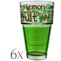 Set 6 pahare apa/suc, 400 ml, Cerve, verde
