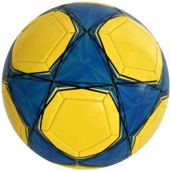 Minge de fotbal marimea nr. 5, Quasar, albastru-galben