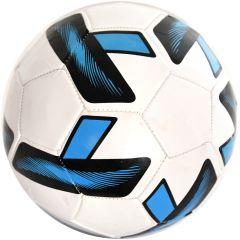 Minge de fotbal marimea nr. 5, Quasar, alb-albastru