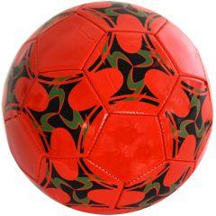Minge de fotbal marimea nr. 5, Quasar, rosu-verde
