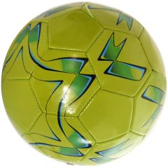 Minge de fotbal marimea nr. 5, Quasar, vernil-negru