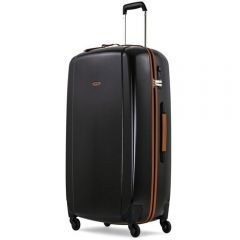 Troler Olivier Strelli, ABS, 4 roti, TSA, doua manere, 70 x 45 x 27 cm, negru, 67 L