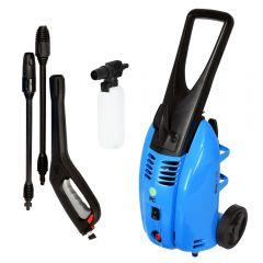 Aparat de spalat cu presiune, IP Cleaning, model Sirio H110, 1800W, 130 bar max, lance jet + lance turbo, furtun lance 5 m, 360 l/h, fabricat in Italia, albastru