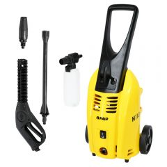 Aparat de spalat cu presiune, IP Cleaning, model Faip H110, 1800W, 130 bar max, furtun lance 5 m, 360 l/h, fabricat in Italia, galben