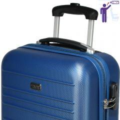 Troler cabina, model Compatible Air, PT by Quasar&Co., 55 x 34 x 20 cm, albastru