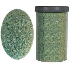 Sticla maruntita de decor, sticla ornamentala, pietris decorativ, Rasteli, 2000 g, verde fistic, art. 2569