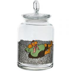 Borcan depozitare alimente, sticla, cu capac, 1,4 L, Pasabahce, Ø 11,5, h 17 cm