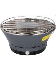 Gratar portabil pentru interior si exterior, Barbeque grill cu carbuni, ventilator incorporat baterii/USB, cu husa transport, fum foarte putin, Maxx, negru, 38 x 38 x 19 cm