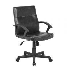 Scaun de birou, ergonomic, Atelier Senjir, piele ecologica, negru