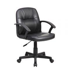 Scaun de birou, ergonomic, Atelier Adna, piele ecologica, negru