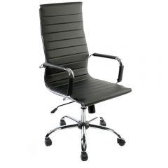 Scaun de birou ergonomic, Atelier Serg, piele ecologica, negru